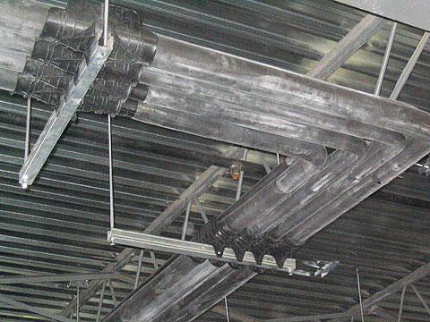 refrigeration pipe saddle support