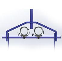 cross bolt pipe clip insuclip