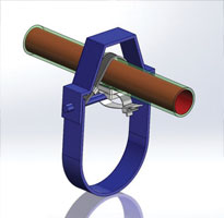 Innovation pipe fastener for clevis hangers